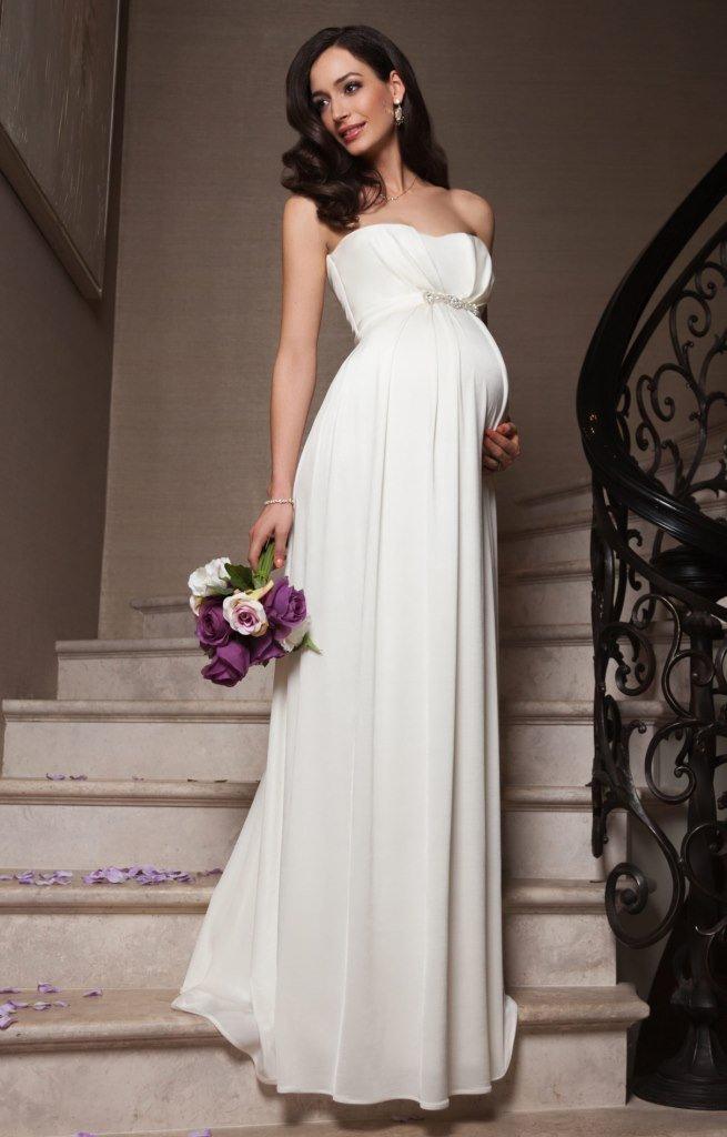 Как выбрать свадебное платье беременной невесте ad24f048c11