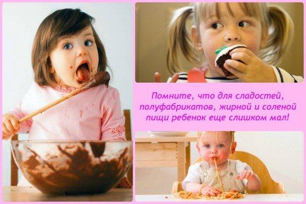 для пищи такого рода ребенок еще слишком мал