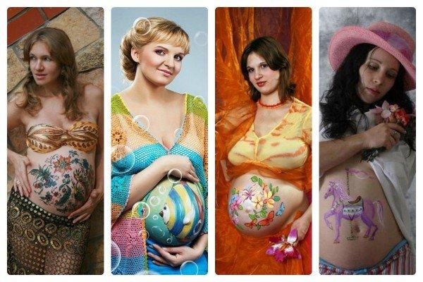 Боди-арт беременных в картинках