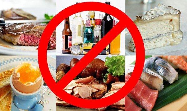 Продукты, способные вызвать пищевое отравление у беременных
