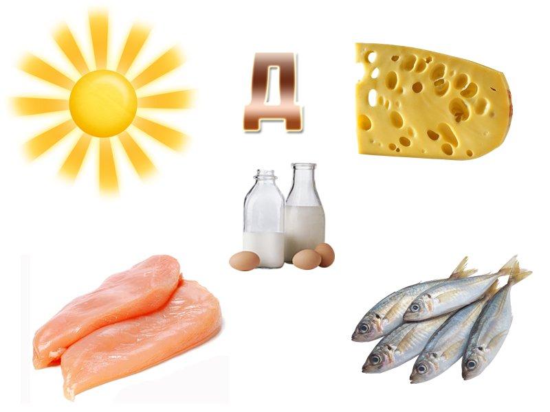 Д картинка витамины и продукты