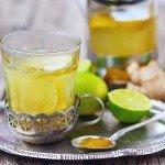Зелёный чай с лаймом и мёдом
