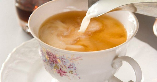 Зелёный чай с молоком