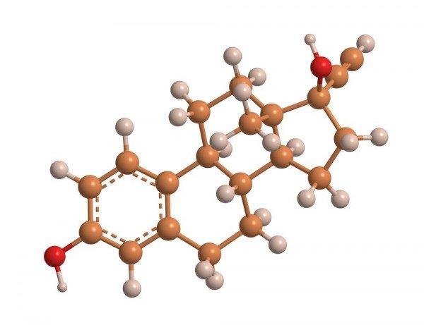 3D — схема гормона эстрогена