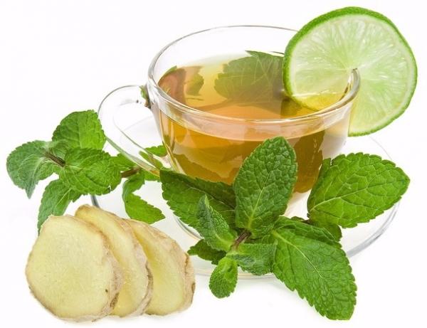 Имбирный чай с лаймом
