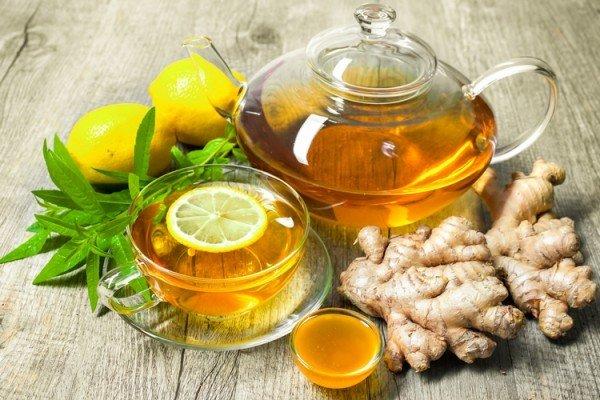 Имбирный чай с мёдом, лимоном