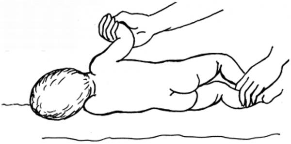 Схема правильной методики переворачивания ребёнка