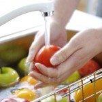 Мытьё овощей и фруктов