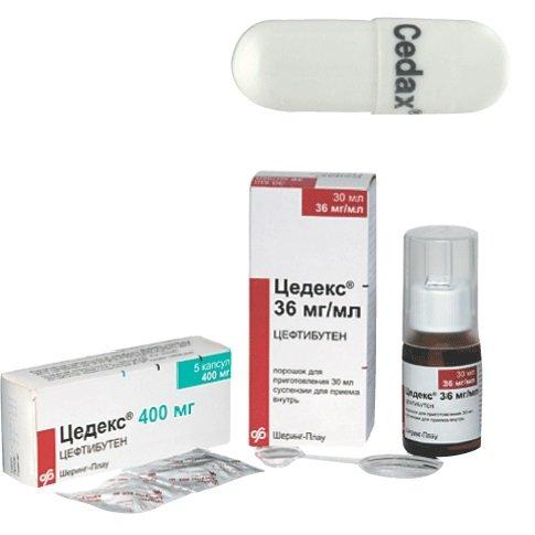 Цедекс — цефалоспориновый антибиотик III поколения