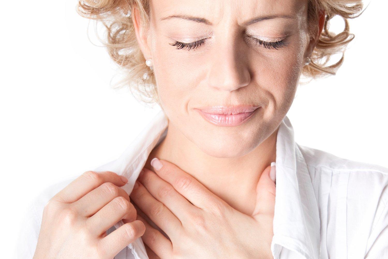 У беременной болит горло