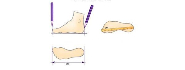 Как правильно измерить стопу ребенка
