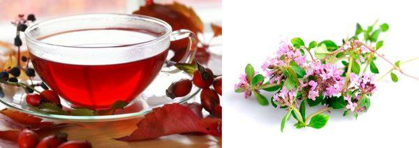 Чай с шиповником и чабрецом