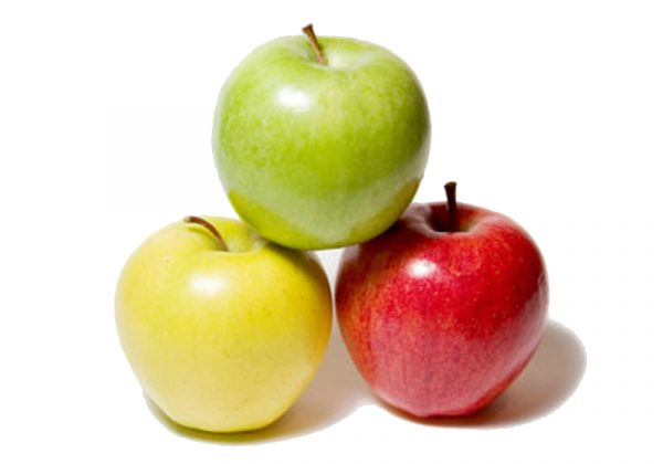 Яблоки зелёные, жёлтые, красные
