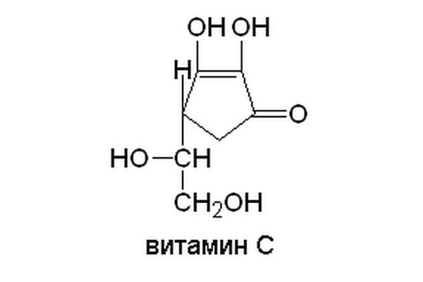 Химическая формула аскорбиновой кислоты