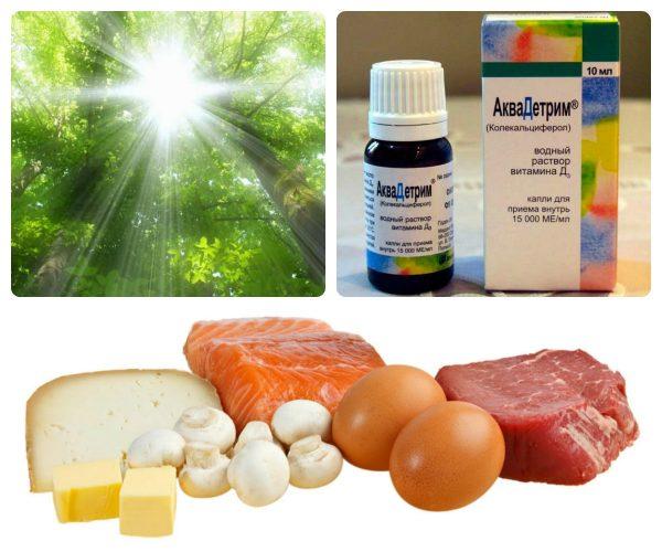 Источники поступления в организм витамина Д