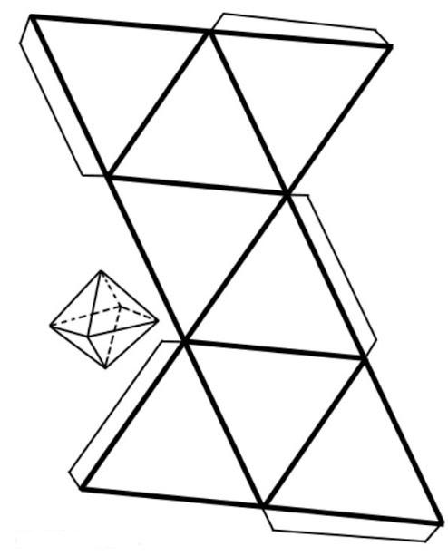 Схема для изготовления октаэдра