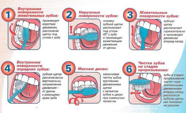 Техника чистки зубов детям
