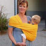 Короткий слинг-шарф
