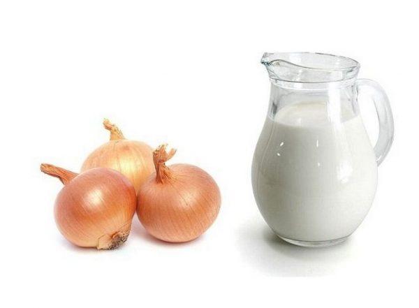 Молоко с луком от ларингита