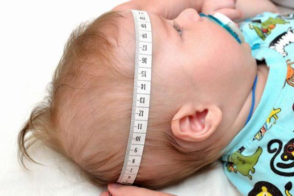 Измерение окружности головы ребёнка