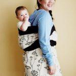 Женщина с ребёнком в подеги