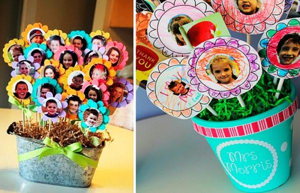 Цветы с фото детей