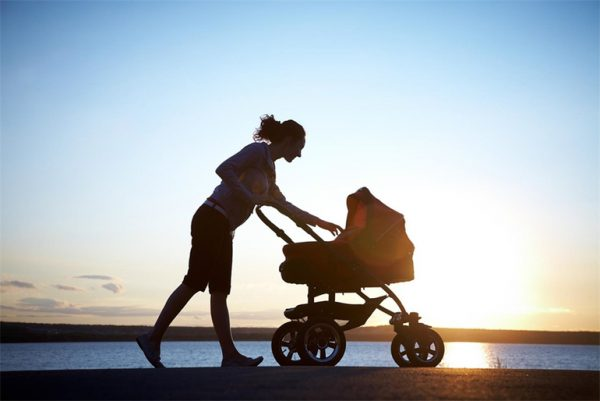 Мама гуляет с коляской