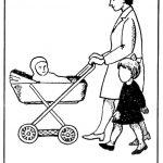Ребёнок и мама с младенцем