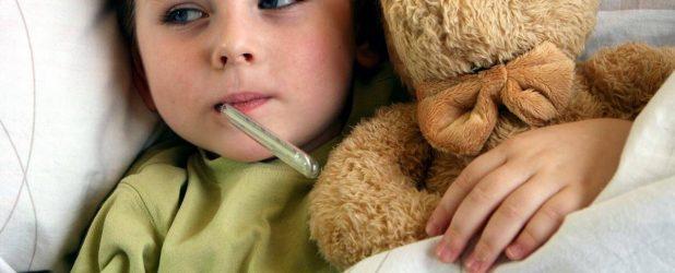 У ребёнка болит горло и высокая температура