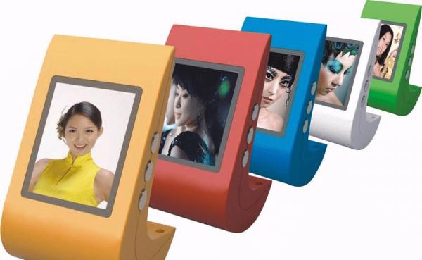 Цифровые фоторамки разных цветов