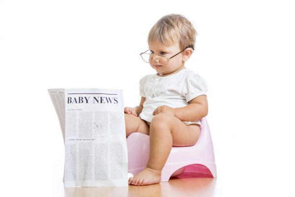 Читающий ребёнок на горшке