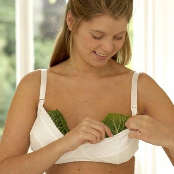 Компресс из капустных листов на грудь