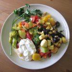 Тушёные овощи в тарелке