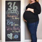 Женщина на 36-й неделе вынашивания плода